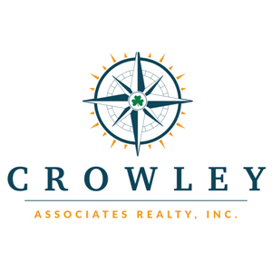 Compass logo and lettering for Crowley Associates Realty, Inc.
